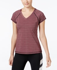 Ideology Striped V Neck Top Only At Macy's Variegated Stripe