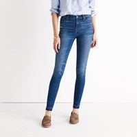 Madewell 9 High Rise Skinny Jeans In Hammond Wash Drop Hem Edition