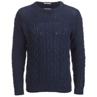 Gant Rugger Men's Chunky Cable Knitted Jumper Blue