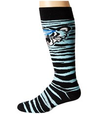Neff Tiger Snow Socks Cyan Men's Thigh High Socks Shoes Blue
