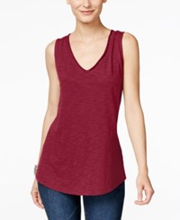 Inc International Concepts V Neck Tank Top Only At Macy's Glazed Berry