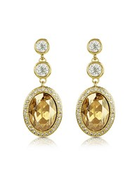 A Z Collection Az Triple Drop Earrings Gold