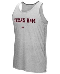 Adidas Men's Texas A And M Aggies Team Font Ultimate Ringer Tank Heather Gray