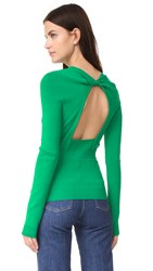 Rochas Long Sleeve Sweater Bright Green