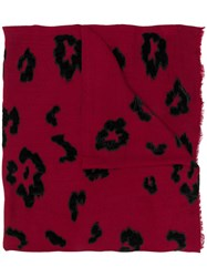 Lily And Lionel Roar Velvet Scarf Red