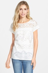 Halogen Lace Front Top Regular And Petite White