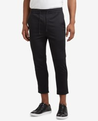 Kenneth Cole Reaction Men's Cropped Stretch Drawstring Pants Black