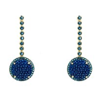 Latelita London Stingray Circle Earring Royal Blue Blue Gold