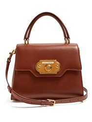 Dolce And Gabbana Welcome Medium Leather Bag Tan
