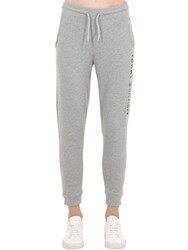 Tommy Hilfiger Logo Embroidered Cotton Sweatpants Grey