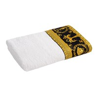 Versace Barocco And Robe Towel White Gold Black Bath Towel