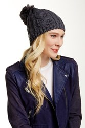 Lava Cable Knit Pom Hat Gray
