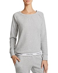 Calvin Klein Modern Cotton Crewneck Lounge Sweatshirt Gray