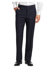 Emporio Armani Wool Pants Navy