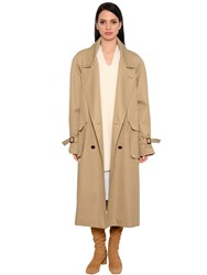 Nehera Oversized Cotton Twill Trench Coat