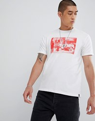 Dc Shoes T Shirt With London Chest Photo Print In White