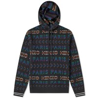 Kenzo All Over Jacquard Knit Hoody Black