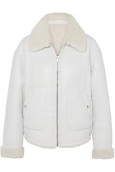 Mcq By Alexander Mcqueen Reversible Shearling Jacket Ivory