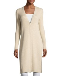 1.State Ribbed Knit Button Maxi Cardigan Camel