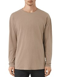Allsaints Jovian Long Sleeve Tee Battle Brown
