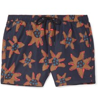 Paul Smith Printed Swim Shorts Navy