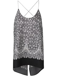 Helmut Lang Printed Backless Camisole Black