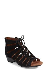 Women's Cobb Hill 'Gabby' Lace Up Sandal Black Leather