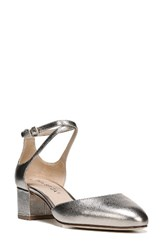 Via Spiga Women's Dinah Ankle Strap D'orsay Pump Rose Gold Leather