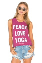 Spiritual Gangster Peace Love And Yoga Tank Fuchsia
