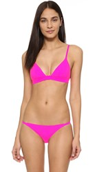 Solid And Striped The Morgan Bikini Top Hot Pink