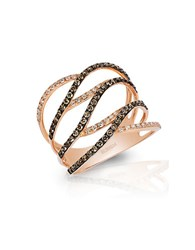 Effy Espresso 14K Rose Gold And Brown Diamond Ring Diamond Rose Gold