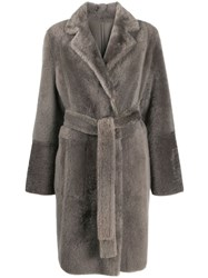 Yves Salomon Mid Length Textured Coat 60