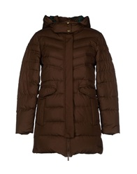 Alviero Martini 1A Classe Down Jackets Dark Brown
