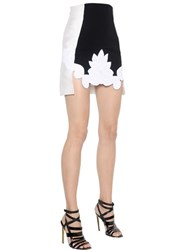 Antonio Berardi Stretch Crepe Cady And Macrame Lace Skirt