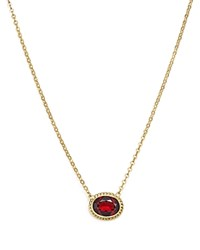 Bloomingdale's Garnet Bezel Pendant Necklace In 14K Yellow Gold 18 Red Gold