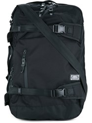 As2ov Double Buckle Zipped Backpack Men Nylon One Size Black