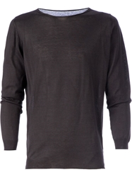 Roberto Collina Long Sleeve T Shirt Grey