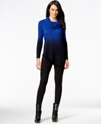 Ny Collection Petite Asymmetrical Dip Dye Cowl Neck Sweater Keller