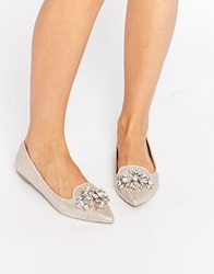 Head Over Heels By Dune Head Over Heels Lou Lou Embellished Pointed Flat Shoes Gols