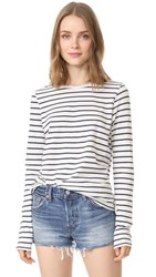 The Lady And The Sailor Relaxed L S Tee Navy Stripe