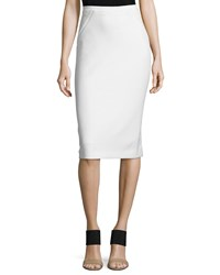 Elie Tahari Harla Midi Pencil Skirt Women's Winter White
