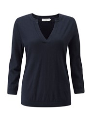 Henri Lloyd Gracie Fine Gauge Knit Navy