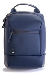 Vessel Men's Pebbled Faux Leather Shoe Bag Blue Pebbled Navy