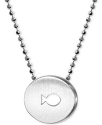 Alex Woo Sterling Silver 'Finding Dory' Fish Disc Pendant Necklace
