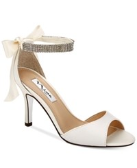 Nina Vinnie Two Piece Evening Sandals Women's Shoes Ivory