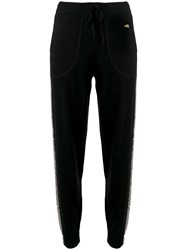 Bella Freud Britt Sparkly Side Stripe Trousers Black