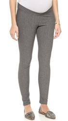 Plush Fleece Maternity Leggings Grey