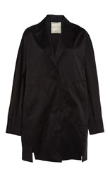 Marco De Vincenzo Fringed Applique Duchesse Coat Black