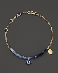 Meira T Diamond Sapphire And 14K Yellow Gold Evil Eye Bracelet No Color