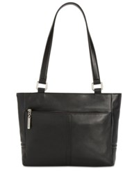 Giani Bernini Nappa Classic Leather Tote Created For Macy's Black